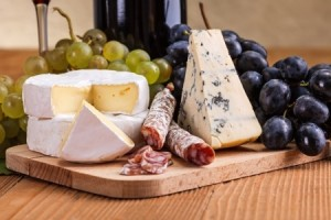 Wine cheese board
